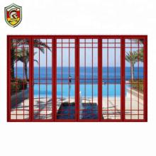 Foshan manufacturer aluminium doors and windows front house design bifold glass door