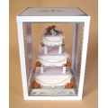 Pop Acrylic Display Shelf for Cakes, Advertising Display Stand