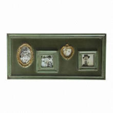 Wooden photo frame, collage
