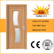 Portes d'intérieur en PVC de haute qualité