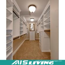 Marche de garde-robe de couleur blanche personnalisée dans les placards (AIS-W353)