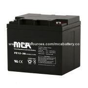 12V-38Ah AGM Battery for UPS, Streetlight, Switch, Microwave Stations, Data Centers, Electrical Toys