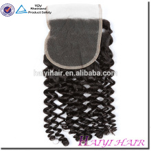 Wholesale Price Human Virgin Hair 4*4 Cambodian Virgin Hair Curly Lace Closure Piece