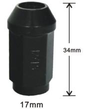 Black 34mm acorn nuts