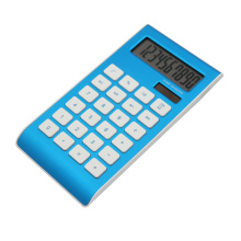 10 Digits Dual Power aluminum Surface office Calculator