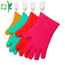 Silicone Cooking Washing Gloves dengan Scrubber Gloves