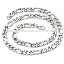 Fashion High Quality Metal Necklace Stainless Steel Figaro Chain