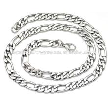 Moda alta qualidade metal colar de aço inoxidável Figaro cadeia