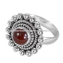Schöne rote Onyx Edelstein 925 Sterling Silber Ring Schmuck