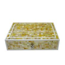 Seashell Mosaik Produkt Gold Shell Aufbewahrungsbox