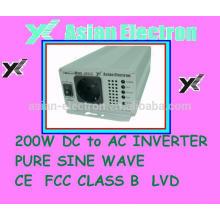 100VAC con salida de Nueva Zelanda Inversor de 200W conmutador 50 / 60Hz seleccionable