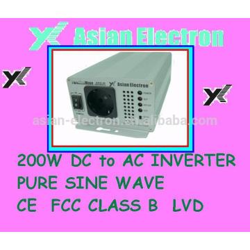 Saída superior de boa qualidade de 200 VCA com inversor de 200W de tomada universal