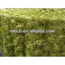 Toalha de mesa lindos padrões florais para toalha de mesa de casamento, cetim Roseta