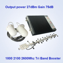 Tri-Band Cell Phone Signal Booster, 2600 1800 2100MHz 2g 3G 4G Signal Booster Equipment /China Mobile Signal Booster