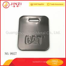 Étiquette de bagage métallique en gros avec des armes à feu avec une qualité élevée