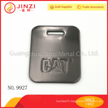 Wholesale gun color metal luggage tag with high quality