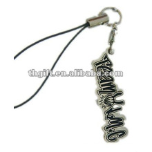 2012 metal letter mobile phone straps