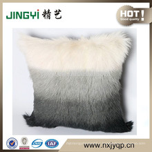 2017 Goat Skin Leather Plates Cushion Cover