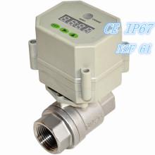 Temporizador eléctrico de alta calidad controlado automático de la válvula de bola de agua