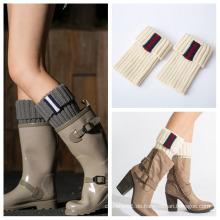 Frauen-Dame Knee High Leg Winter gestrickte Wolle Knie Oberschenkel hohe Socken Beinwärmer