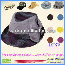 2013 New Design Purple Rosette 100% Paper Straw Hat ,LSP72