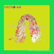 Nouvelle mode à fleurs longues chandail écharpe à viscose avec une haute qualité