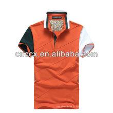 13PT1047 Polo à manches courtes en coton pour hommes