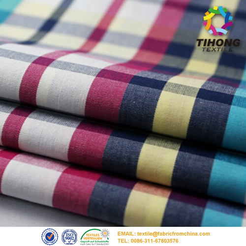 cotton yarn dyed shirt fabric