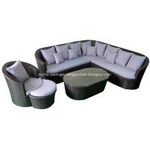 Leisure ways rattan sofa with aluminum base