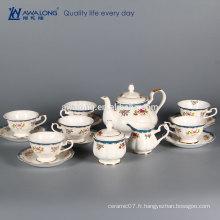 En stock En vrac Bulk Nouvelle maison en porcelaine Ensemble de café en céramique 15 pièces