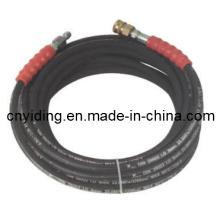 Manguera de caucho trenzado de acero de alta presión de 3200psi (8SH32)