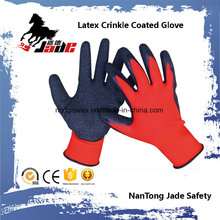13G Nylon Palm Latex Crinkle Coated Safety Luva