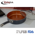 горячие продаж медь покрытие глубокую сковородку