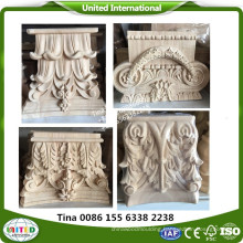 Traditional smooth bar bracket wood carved corbels