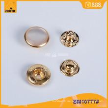 Metall-Perlen-Verschluss-Knopf, kundenspezifischer Druck-Knopf BM10777