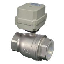 2 '' La válvula de bola 316 de acero inoxidable eléctrica aprobó NSF61 (T50-S2-C)