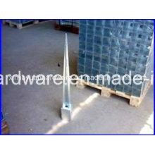 Verzinkter Betonschraube Bodenanker, Stangenanker für Verschlusspfosten