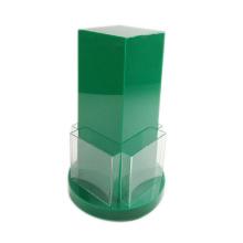 Custom Made Eight-Pocket Acrylic Rotating Brochure Holder, desktop acrylic display stand for office or bank