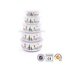5 Stück Emailleware Weihnachten Werbegeschenk Schüssel
