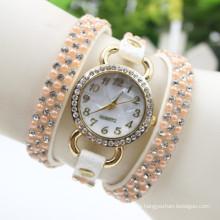 Neu kommen Sie Entwurfs-Perlenarmbanduhr-Schmucksachegroßverkauf-Uhrdamen an