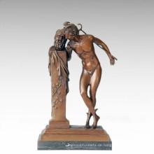 Mythologie Figur Statue Hermes Geheimnis Bronze Skulptur TPE-233