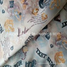 Tejido de tafetán de poliéster 100% impreso para el forro de vestir Hometextile