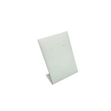 Wholesale White PU Vertical Metal Earring Jewelry Display Stand (HE-1)