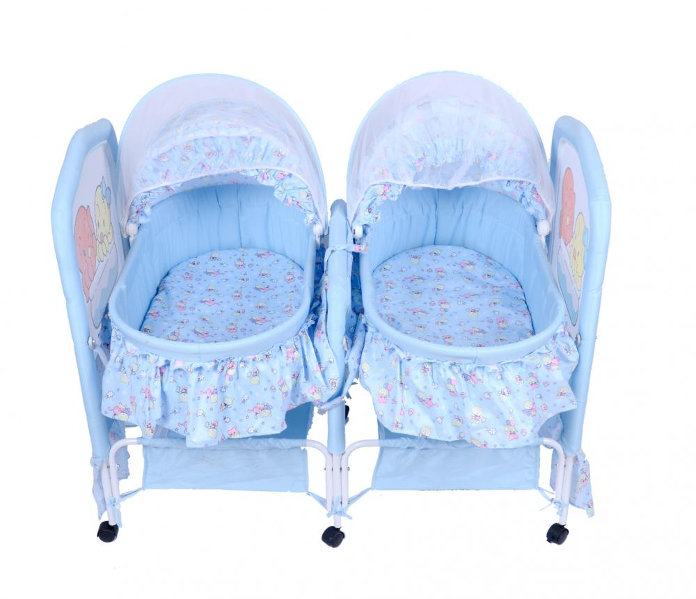 Rocking Twins Baby Bed