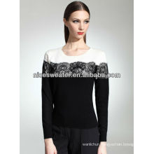 Wholesale custom the most hot selling new 2016 women's sweater