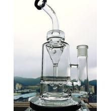Tubo de agua de vidrio de embudo Perc
