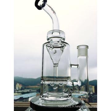 Tubes d'eau en verre à entonnoir Perc