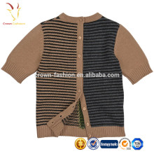 Latest Wool Cashmere Blend Cardigan Sweater Designs For Girls Short Sleeves