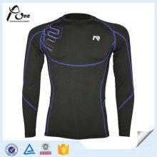 Vêtements de sport compressés en jersey à manches longues pour hommes