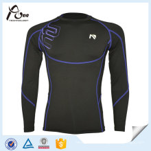 Reflective Long Sleeve Jersey Compressed Sports Wear for Men